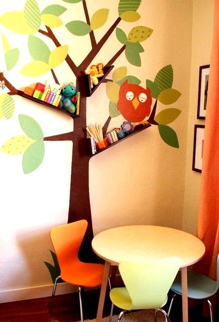 Floating Booshelves Tree Wall Art